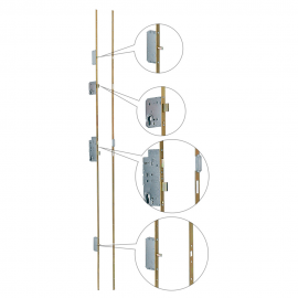 Riegelschloss mit vier Riegeln Metalplast