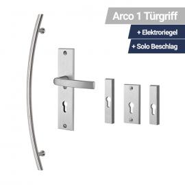 Arco Türgriff + Elektroriegel + Solo Beschlag