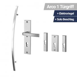 Arco 01 Türgriff + Elektroriegel + Solo Beschlag